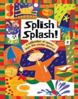 Splish splash cover with child in gumboots.
