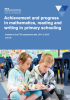 Achievement and progress in mathematics cover image.