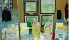 Students art works on display.
